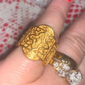 Julie Vos Sophia 24k gold band ring